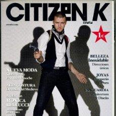 Coleccionismo de Revistas y Periódicos: REVISTA CITIZEN K 7 - JUSTIN TIMBELAKE. Lote 38662585
