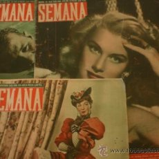 Coleccionismo de Revistas y Periódicos: SEMANA REVISTA AÑO 1948-LOTE-. Lote 38682440