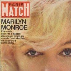 Coleccionismo de Revistas y Periódicos: PARIS MATCH Nº 697.18 AGOS. 1962. MARILYN MONROE.LE DRAME DE SA VIE.LE MIYSTERE DE. Lote 38735840