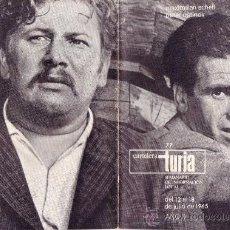 Coleccionismo de Revistas y Periódicos: CARTELERA TURIA Nº 77 AÑO 1965. MAXIMILIAN SCHELL - PETER USTINOV. Lote 38850914