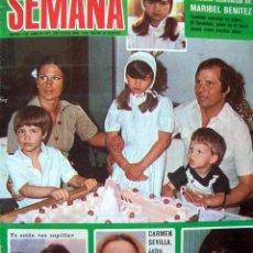 Coleccionismo de Revistas y Periódicos: SEMANA / EL CORDOBES, JANET AGREN, PACA GABALDON, RAFFAELLA CARRA, ALFREDO KRAUS, RICHARD THOMAS. Lote 38871556