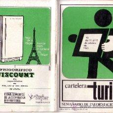 Coleccionismo de Revistas y Periódicos: CARTELERA TURIA Nº 90 AÑO 1965. Lote 38918539
