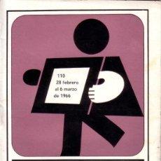 Coleccionismo de Revistas y Periódicos: CARTELERA TURIA Nº 110 AÑO 1966. Lote 38919244
