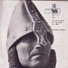 Coleccionismo de Revistas y Periódicos: CARTELERA TURIA Nº 118 AÑO 1966 - CHARLTON HESTON. Lote 38965035