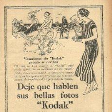 Coleccionismo de Revistas y Periódicos: PUBLICIDAD KODAK - 1926. Lote 38969208