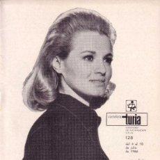 Coleccionismo de Revistas y Periódicos: CARTELERA TURIA Nº 128 AÑO 1966 ANGIE DICKINSON. Lote 39010236