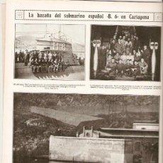 Coleccionismo de Revistas y Periódicos: AÑO 1927 SUBMARINO B 6 CARTAGENA VIGO COROS GALLEGOS FEIX AIRIÑOS DO MAR LLANES CORONEL VILLEGAS . Lote 39023447