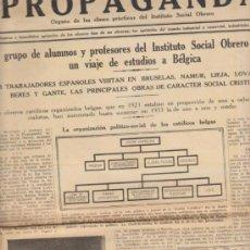 Colecionismo de Revistas e Jornais: PROPAGANDA.ORGANO DE LAS CLASES PRÁCTICAS DEL INSTITUTO NACIONAL OBRERO. AÑO 1933.. Lote 39035727
