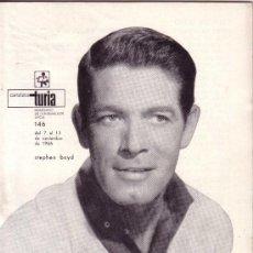 Coleccionismo de Revistas y Periódicos: CARTELERA TURIA Nº 146 AÑO 1966 - STEPHEN BOYD. Lote 39080882