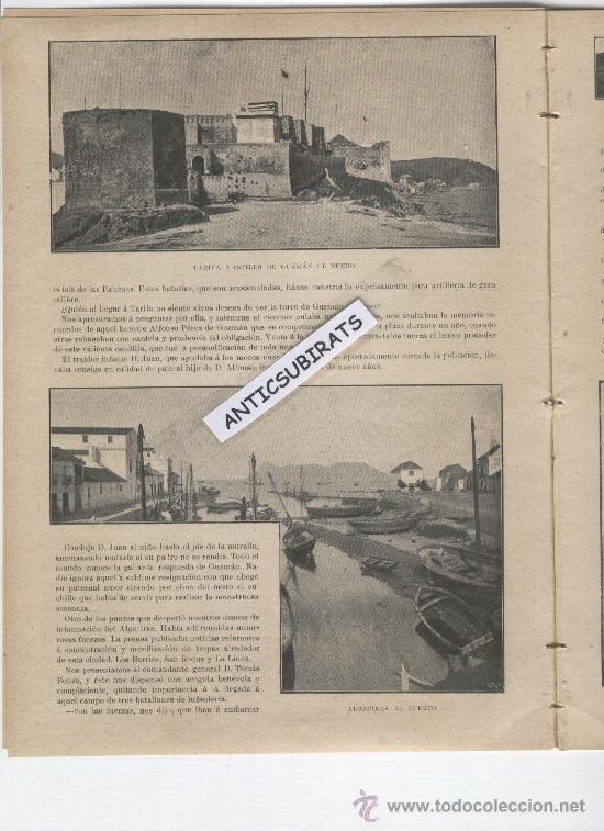 Coleccionismo de Revistas y Periódicos: REVISTA AÑO 1898 FOTOS DE TARIFA PUERTO CASTILLO ALGECIRAS LA LINEA PASO FRONTERIZO GIBRALTAR CADIZ - Foto 2 - 39115068