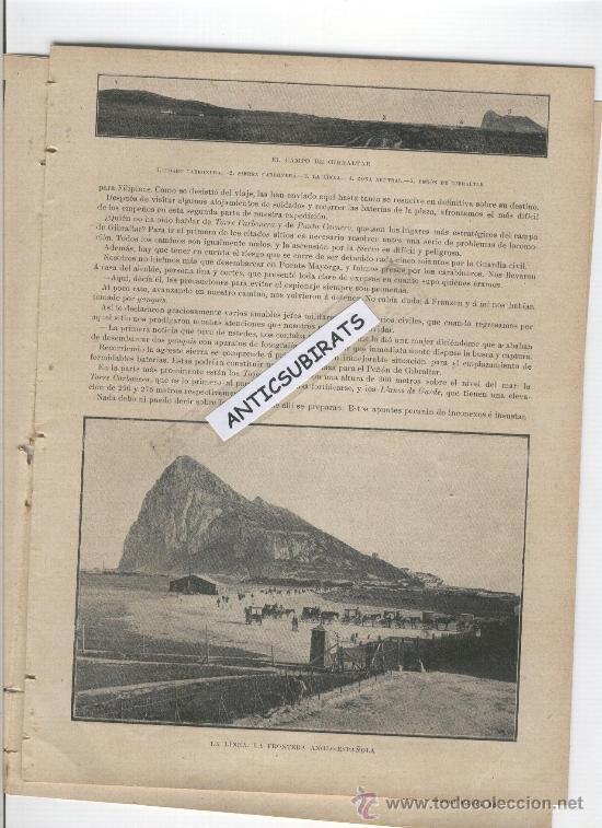 Coleccionismo de Revistas y Periódicos: REVISTA AÑO 1898 FOTOS DE TARIFA PUERTO CASTILLO ALGECIRAS LA LINEA PASO FRONTERIZO GIBRALTAR CADIZ - Foto 3 - 39115068
