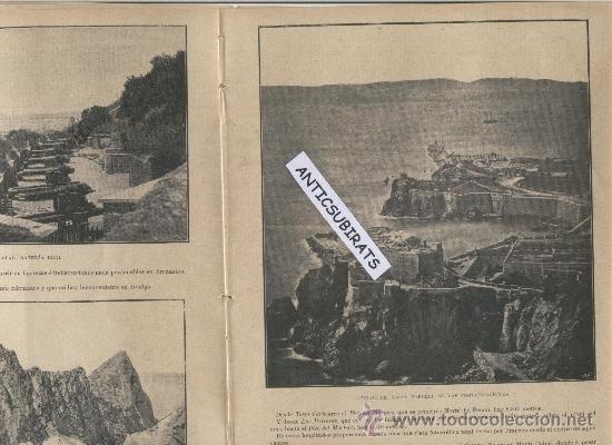 Coleccionismo de Revistas y Periódicos: REVISTA AÑO 1898 FOTOS DE TARIFA PUERTO CASTILLO ALGECIRAS LA LINEA PASO FRONTERIZO GIBRALTAR CADIZ - Foto 4 - 39115068