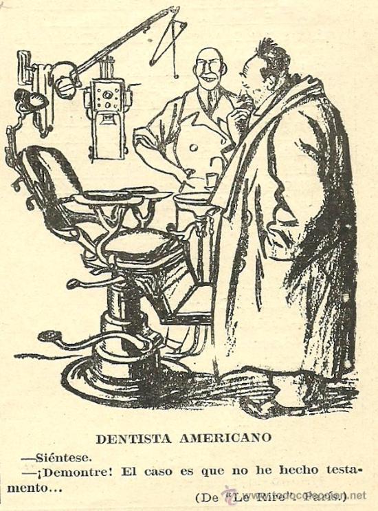 Chiste De Dentistas 1928 Kaufen Alte Zeitschriften Und Zeitungen