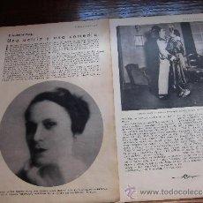 Coleccionismo de Revistas y Periódicos: LA ACTRIZ FRANCE ELLYS EN LA COMEDIA BROWING 2 HOJAS DE REVISTA BLANCO Y NEGRO 1930. Lote 39125721