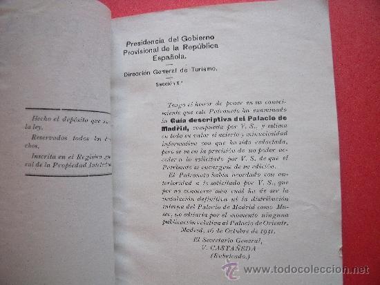 Coleccionismo de Revistas y Periódicos: FERMIN GOMEZ DE LAS HERAS.-EL PALACIO DE MADRID.-GUIA DE UTILIDAD PARA TURISTAS.-MADRID.-AÑO 1934. - Foto 2 - 39169118