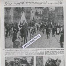 Coleccionismo de Revistas y Periódicos: REVISTA AÑO 1920 ROMERIA EN SEVILLA DE LA VIRGEN DEL VALME DE DOS HERMANAS . Lote 39198757