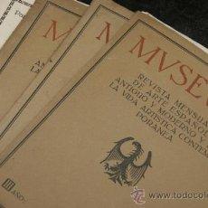Coleccionismo de Revistas y Periódicos: GRAN LOTE DE REVISTAS MUSEUM, DE ARTE ESPAÑOL, DE 1910 A 1913. Lote 39260425