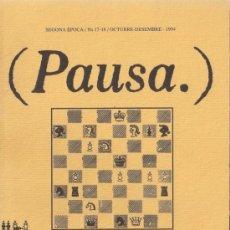 Coleccionismo de Revistas y Periódicos: PAUSA. REVISTA DE LA SALA BECKETT SEGUNDA ÉPOCA Nº 17-18 OCTUBRE-DICIEMBRE 1994. Lote 39288168