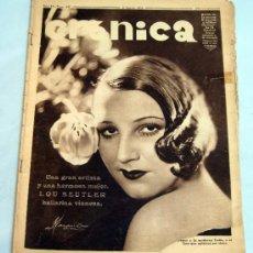 Coleccionismo de Revistas y Periódicos: CRÓNICA REVISTA Nº 247 AGOSTO 1934 REPORTAJES ACTUALIDAD ÉPOCA LOU BEUTLER PORTADA. Lote 39366424
