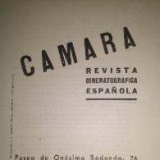 Coleccionismo de Revistas y Periódicos: NOMBRAMIENTO DE COMISIONADO LOCAL Y PROPAGANDISTA DE LA REVISTA CINEMATOGRAFICA CAMARA 1943. Lote 39345998