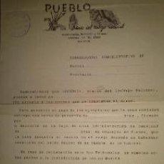 Coleccionismo de Revistas y Periódicos: NOMBRAMIENTO DE CORRESPONSAL ADMINISTRATIVO DEL DIARIO PUEBLO. Lote 39346287