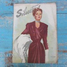 Coleccionismo de Revistas y Periódicos: ANTIGUA REVISTA SILUETAS - FEBRERO 1948 - MODA, DECORACION, PUBLICIDAD, ARTE, CINE -. Lote 245525790