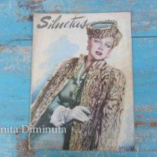 Coleccionismo de Revistas y Periódicos: ANTIGUA REVISTA SILUETAS - DICIEMBRE 1947 - MODA, DECORACION, PUBLICIDAD, ARTE, CINE -. Lote 245525645