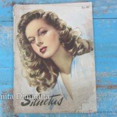 Coleccionismo de Revistas y Periódicos: ANTIGUA REVISTA SILUETAS - MAYO 1947 - MODA, DECORACION, PUBLICIDAD, ARTE, CINE -. Lote 245525760