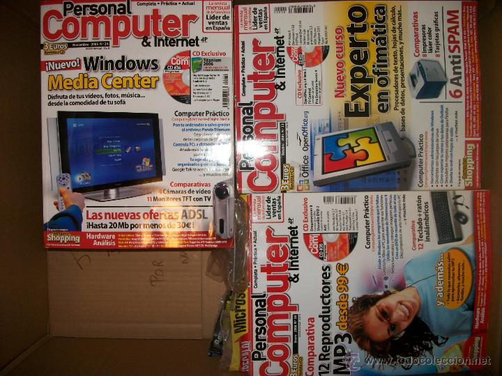 LOTE DE REVISTAS PERSONAL COMPUTER & INTERNET - 1 A 38 (Coleccionismo - Revistas y Periódicos Modernos (a partir de 1.940) - Otros)