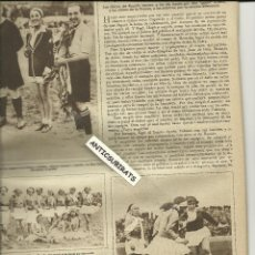 Coleccionismo de Revistas y Periódicos: REVISTA AÑO 1931 FUTBOL FEMENINO EN ESPAÑA VALENCIA ARTISTAS DEL TEATRO APOLO Y RUZAFA VALENCIA. Lote 39407415
