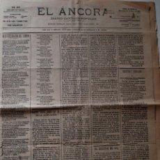 Coleccionismo de Revistas y Periódicos: PERIODICO EL ÁNCORA, 23 DE MAYO DE 1900!! 4 PAGINAS . Lote 39413581