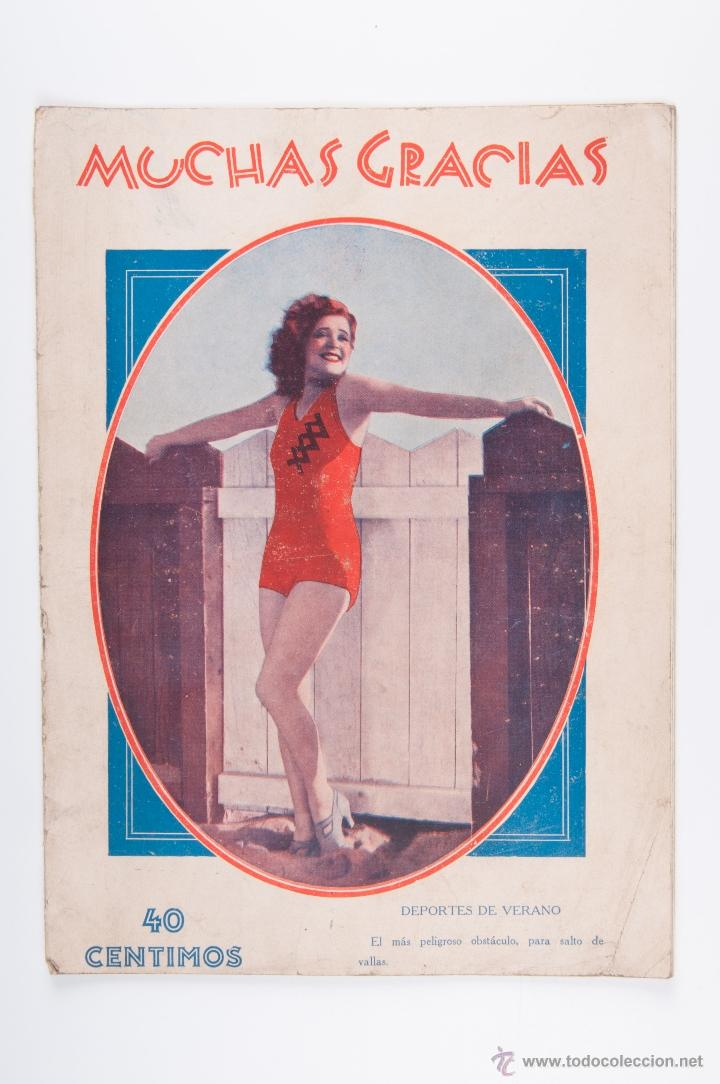 REVISTA MUCHAS GRACIAS Nº 345, AÑO 1930 (Coleccionismo - Revistas y Periódicos Antiguos (hasta 1.939))