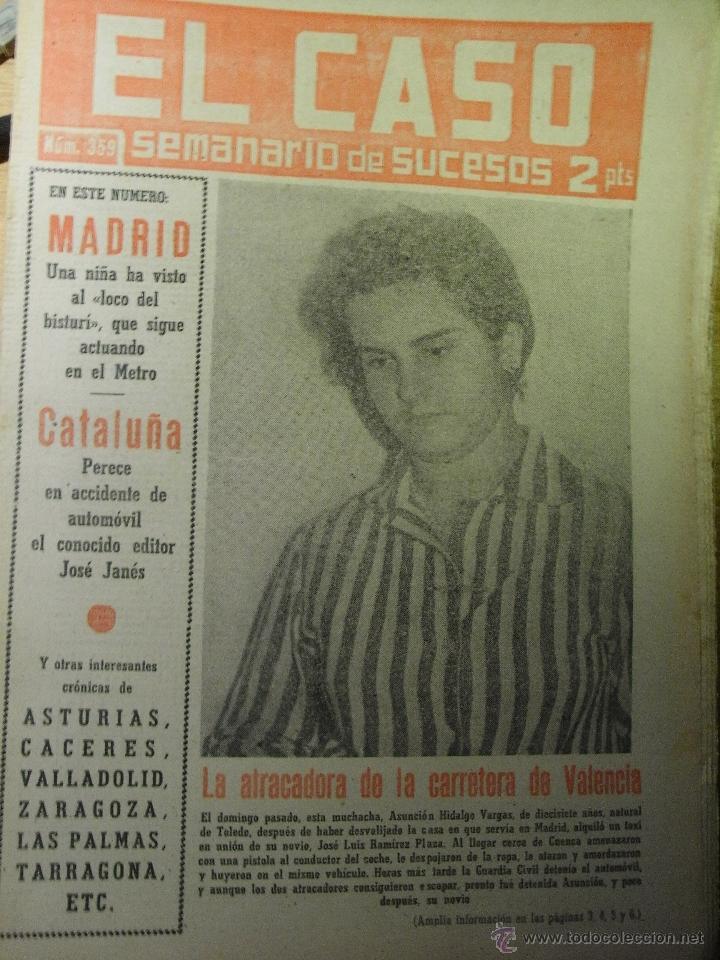 EL CASO . LA ATRACADORA DE LA CARRETERA DE VALENCIA (Coleccionismo - Revistas y Periódicos Modernos (a partir de 1.940) - Otros)