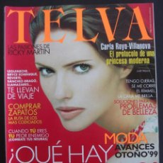 Coleccionismo de Revistas y Periódicos: REVISTA TELVA AÑO 1999 N 724 JUDIT MASCO RICKY MARTIN ESTHER CAÑADAS. Lote 39634943