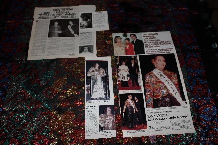 Coleccionismo de Revistas y Periódicos: Clipping Sara Montiel - Foto 2 - 39309377
