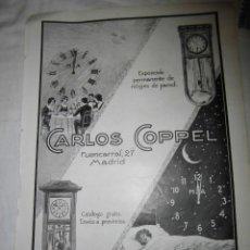 Coleccionismo de Revistas y Periódicos: PUBLICIDAD CARLOS COPEL MADRID /JABON CARMEN GUIDOR HOJA DE REVISTA NUEVO MUNDO 1921. Lote 39719876
