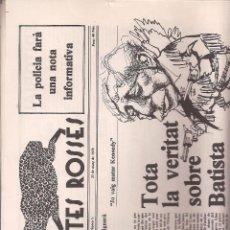 Coleccionismo de Revistas y Periódicos: REVISTA SATÍRICA AMB POTES ROSSES Nº 1. CATALUNYA.. Lote 39732873