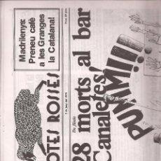 Coleccionismo de Revistas y Periódicos: REVISTA SATÍRICA AMB POTES ROSSES Nº 11 Y ULTIMO.. CATALUNYA.. Lote 39737528