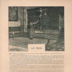 Coleccionismo de Revistas y Periódicos: LA REJA / CUENTO DE EMILIA PARDO BAZÁN - 1903. Lote 39744116