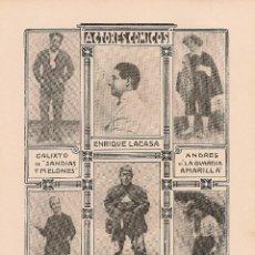 Coleccionismo de Revistas y Periódicos: * TEATRO * ACTORES CÓMICOS: ENRIQUE LACASA - 1903. Lote 39772661