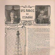 Collezionismo di Riviste e Giornali: FAROS DE ESPAÑA: FARO DE BUDA, DE CHIPIONA, DE CABO MAYOR, UNIVERSAL, DE LUZ RELÁMPAGO - 1903. Lote 39772791