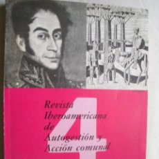 Coleccionismo de Revistas y Periódicos: REVISTA IBEROAMERICANA DE AUTOGESTIÓN Y ACCIÓN COMUNAL. Nº 4. 1983. Lote 39790109