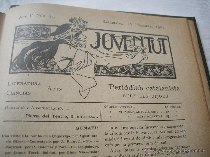 Coleccionismo de Revistas y Periódicos: Periódich Catalanista JOVENTUT Any 1901 Núm.47 al 98 Revista Setmanari Literatura, Ciencias i Arts - Foto 8 - 39824273