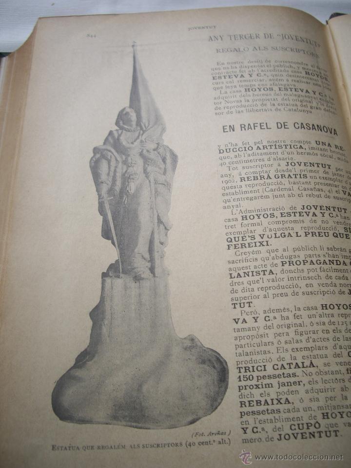 Coleccionismo de Revistas y Periódicos: Periódich Catalanista JOVENTUT Any 1901 Núm.47 al 98 Revista Setmanari Literatura, Ciencias i Arts - Foto 9 - 39824273