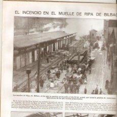 Coleccionismo de Revistas y Periódicos: AÑO 1924 INCENDIO MUELLE RIPA BILBAO CINE VIOLETAS IMPERIALES JOSE CAPUZ ESCULTURA TENOR MONTERO DE. Lote 39897938