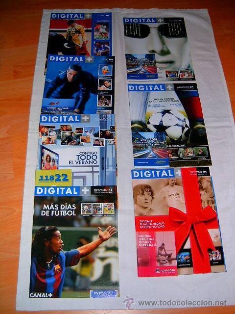 REVISTAS DE CANAL SATÉLITE DIGITAL · DIGITAL + AÑO 2004 (Coleccionismo - Revistas y Periódicos Modernos (a partir de 1.940) - Otros)