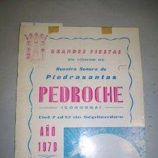 Coleccionismo de Revistas y Periódicos: PROGRAMA. FIESTAS : PEDROCHE : SEPTIEMBRE : 1979. Lote 40024458