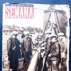 Coleccionismo de Revistas y Periódicos: REVISTA SEMANA 4 MARZO 1941. Nº 54. II GUERRA MUNDIAL. . Lote 40008122