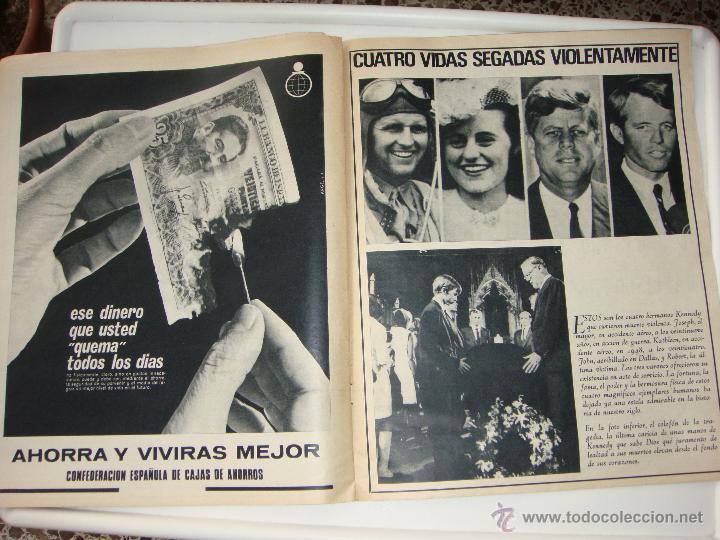 Coleccionismo de Revistas y Periódicos: Sábado gráfico nº 611, 15 de junio de 1968, robert kennedy la tercera victima - Foto 2 - 40020024