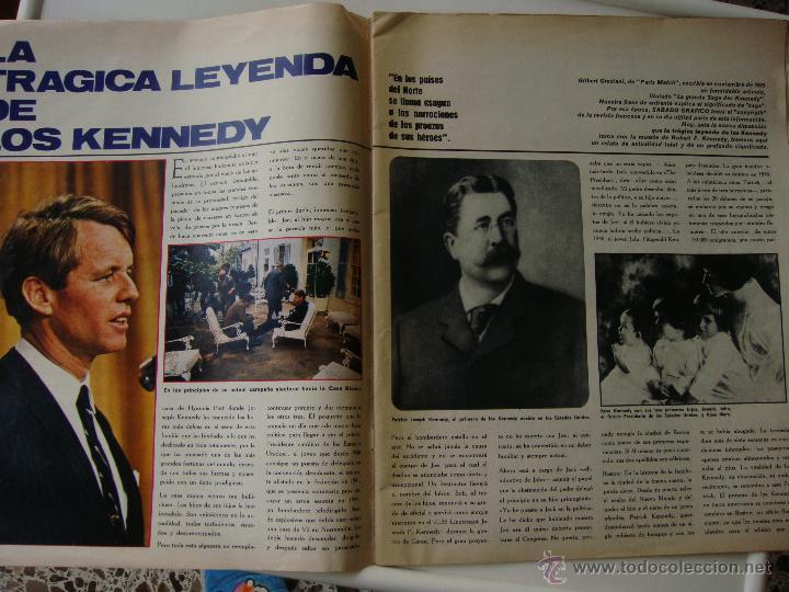 Coleccionismo de Revistas y Periódicos: Sábado gráfico nº 611, 15 de junio de 1968, robert kennedy la tercera victima - Foto 3 - 40020024